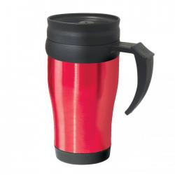 Термокружки OGGI Термокружка Oggi Lustre 400 ml. Stainless Steel Travel Mug with Plastic Red